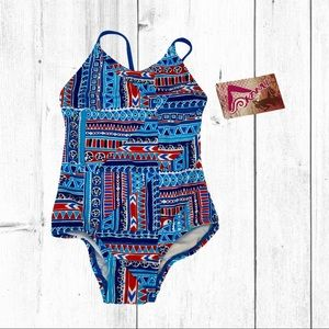 Kanu Surf Cindy 1 Piece Swimsuit in Blue 2T